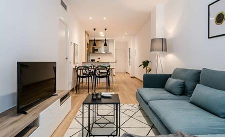 西班牙房产:巴塞市中心3房公寓 近海 约90㎡ 54万欧