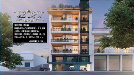 希腊雅典南部DAFNI全新建蓝堡公寓