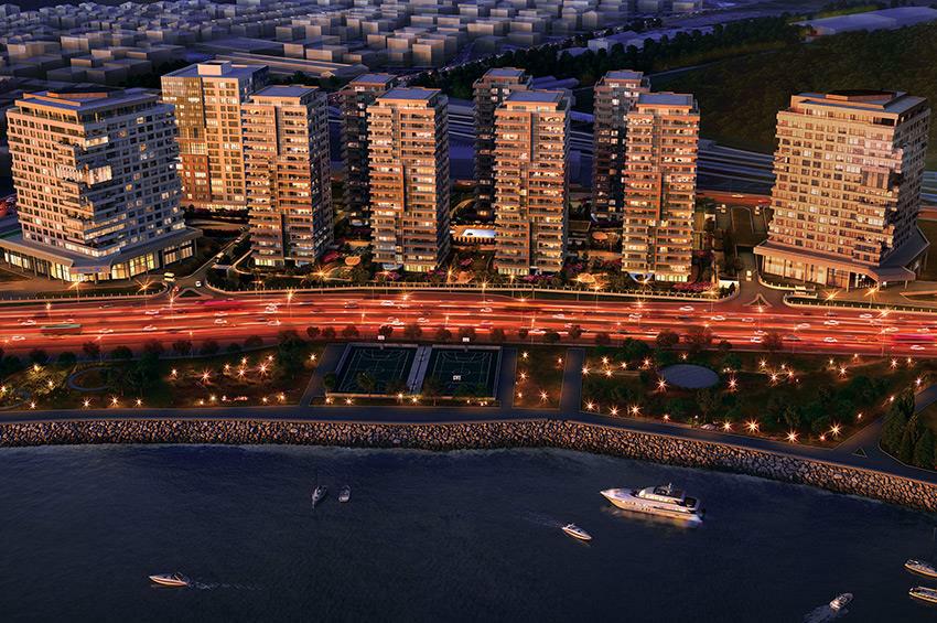 伊斯坦布尔中心区御海澜湾一线海景豪宅 4-5房