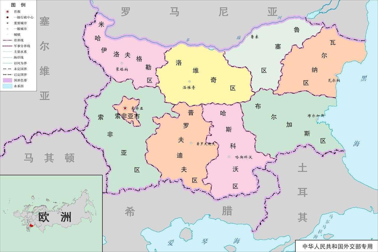 保加利亚地理位置