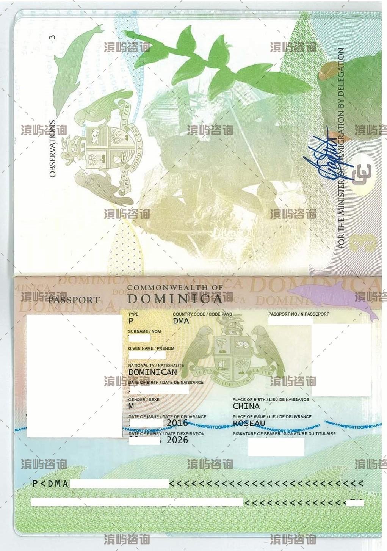 多米尼克移民成功案例-护照