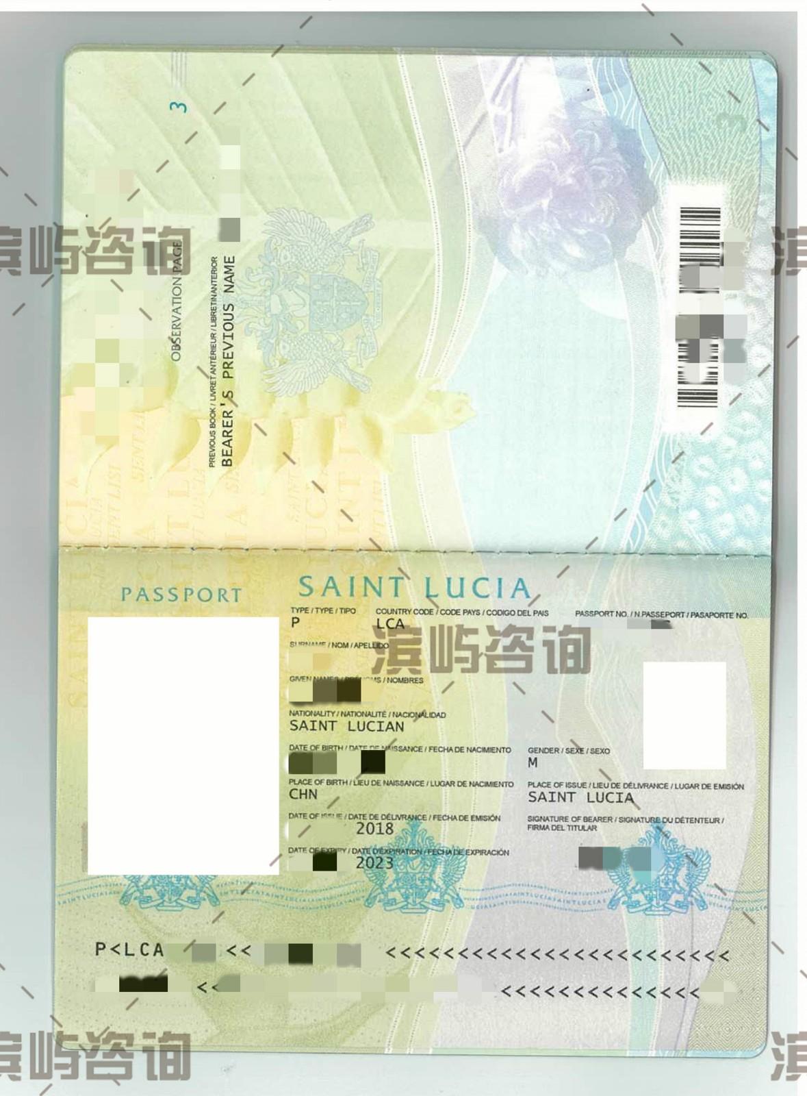 圣卢西亚移民成功案例-护照