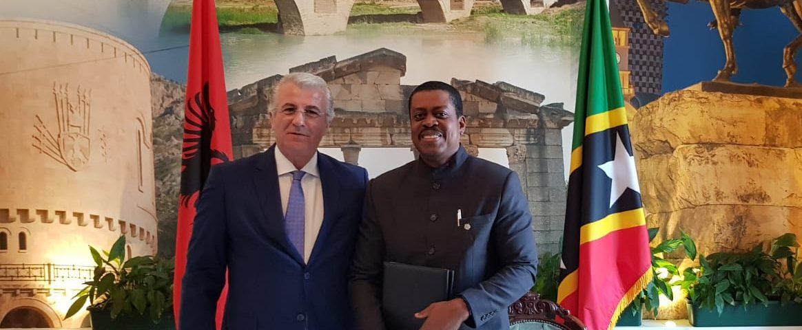 圣基茨与阿尔巴尼亚签署免签协议