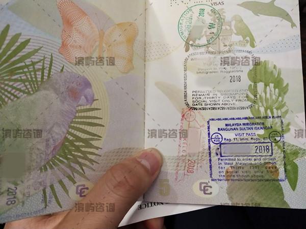 多米尼克护照激活案例:飞新加坡马来西亚