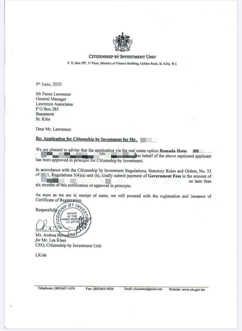 圣基茨购房移民成功案例:华美达酒店融资 2个月获批