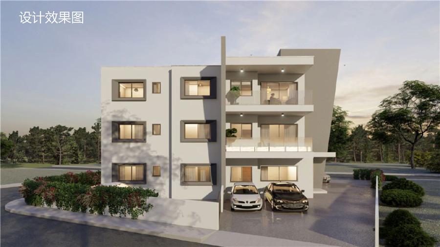 塞浦路斯房产:帕福斯市区花园公寓Precilandia