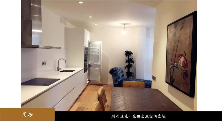 西班牙房产:巴塞罗那扩展区紧凑型精装3房